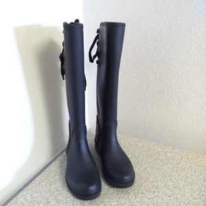 Coach Tristee Black Rubber Boots